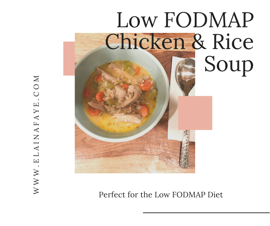 ow FODMAP Chicken and rice soup