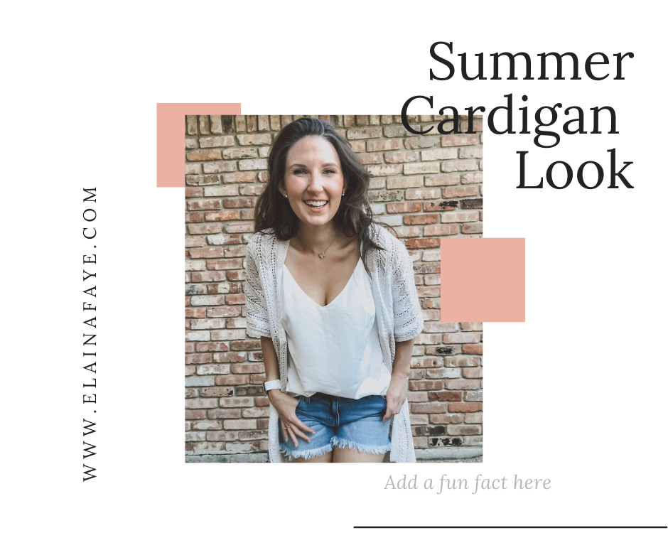 The perfect summer cardigan look for hot summer days but cold AC indoors.