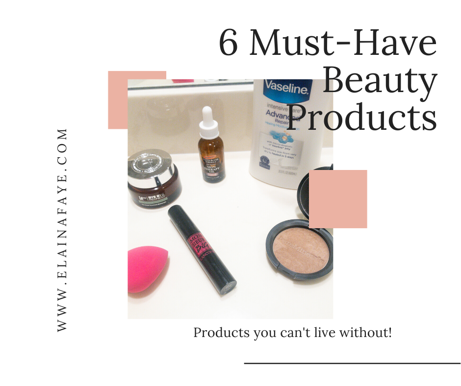 Here is a list of 6 beauty products I can't live without.